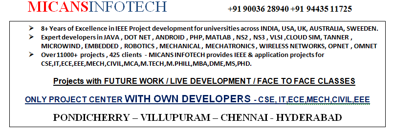 IEEE PROJECTS 2016 – MATLAB PROJECTS LIST – MICANS INFOTECH